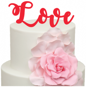 Love word Acrylic Cake Topper
